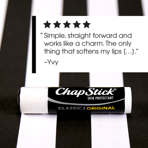 ChapStick® Classic Original lip balm ingredients formulated to keep your lips soft and smooth.