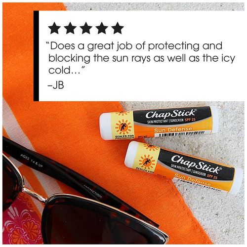 ChapStick® Sun Defense SPF 25 lip balm  product review.