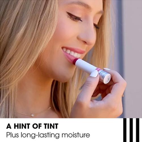 ChapStick® Total Hydration Moisture + Tint Pink Nude has an advanced moisturizing formula with raspberry seed + jojoba oils.