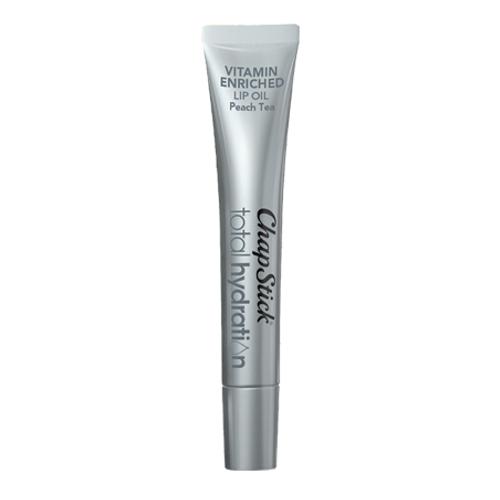 ChapStick® Total Hydration Vitamin Enriched Lip Oil Peach Tea lip balm in 0.23oz tube.