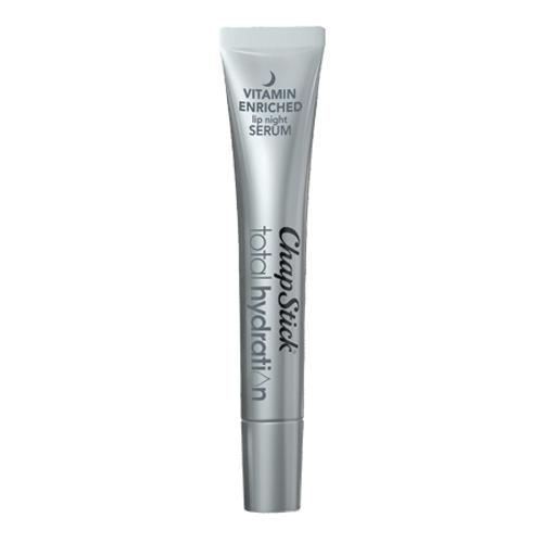 ChapStick® Total Hydration Vitamin Enriched Night Serum lip balm in 0.21oz tube.