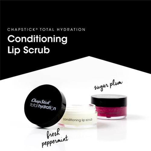 ChapStick® Total Hydration Conditioning Lip Scrub Sugar Plum with Maracuja and Coconut Oils, Shea Butter and Vitamin E