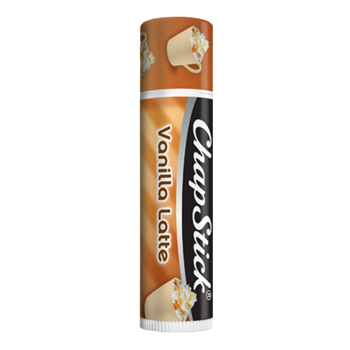 ChapStick® Vanilla Latte lip balm in 0.12oz brown tube.