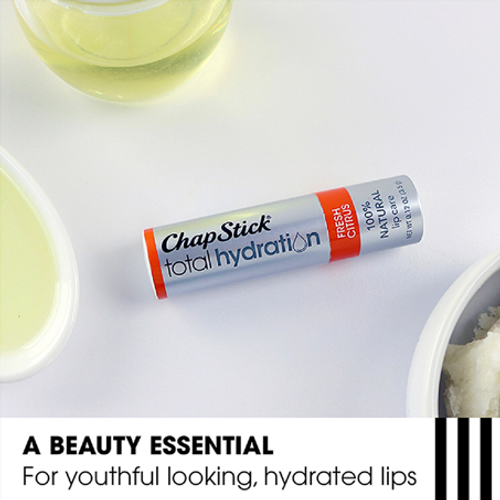 ChapStick® Total Hydration 100% Natural Fresh Citrus with argan oil and avocado butters