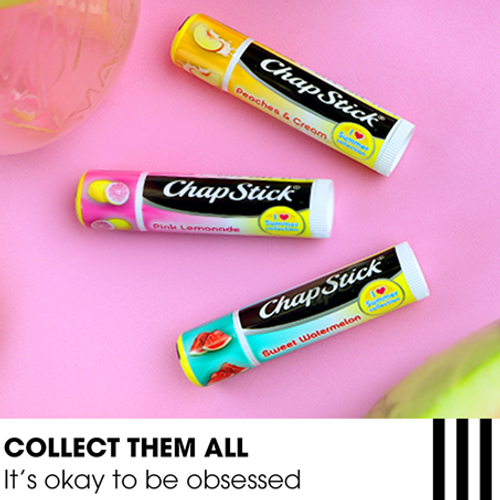 ChapStick® I Love Summer Collection Pink Lemonade lip balm limited summer edition