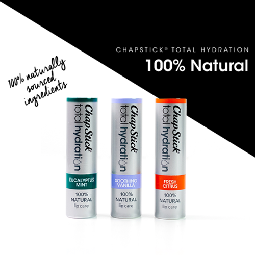 ChapStick® Total Hydration 100% Natural Eucalyptus Mint with argan oil and avocado butters