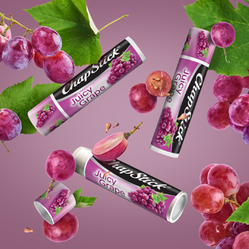 Fresh and fruity ChapStick® Juicy Grape flavor.