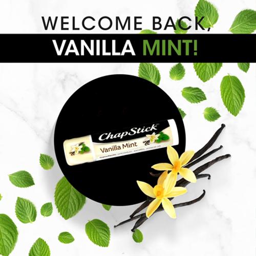 ChapStick® Fan Favorites Vanilla  Mint is Back due to Popular Demand.