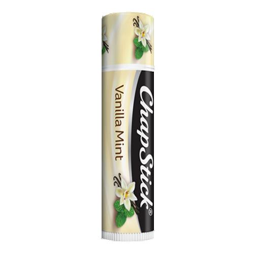 ChapStick® Vanilla Mint lip balm in 0.12oz light yellow cream tube.