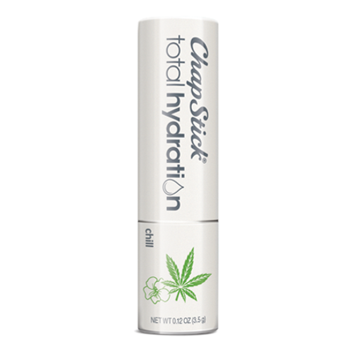 ChapStick® Total Hydration Essential Oils Chill lip balm in white 0.12-ounce tube.