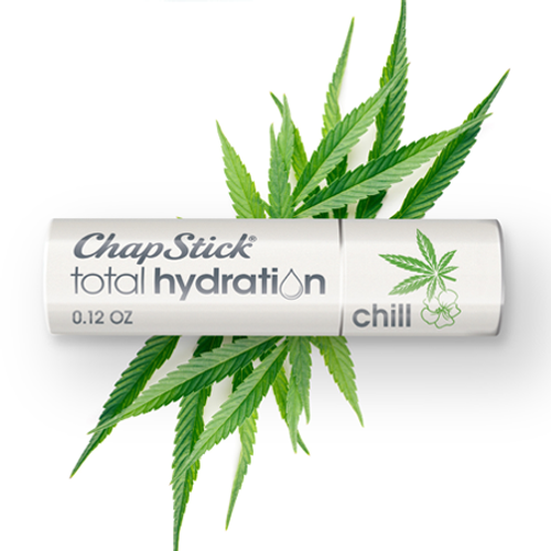 ChapStick® Total Hydration Essential Oils Chill is infused with the essence of hemp