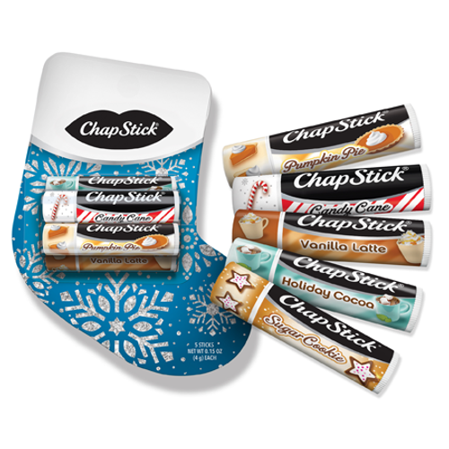 ChapStick® Stocking Pack limited edition christmas gift in a christmas stocking shape
