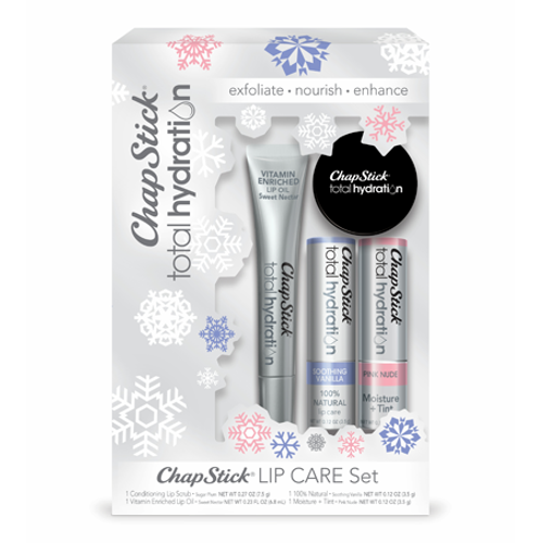 ChapStick® Total Hydration Lip Care Set with Lip Scrub, Oil, Moisturizer and Tint.
