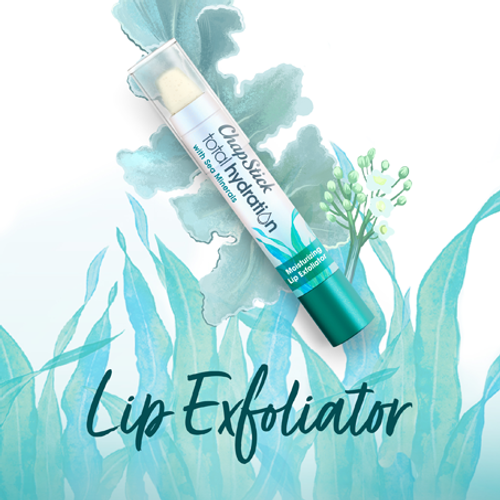 ChapStick® Total Hydration Sea Minerals Lip Exfoliator in white 0.10-ounce tube.