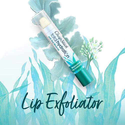 ChapStick® Total Hydration Sea Minerals Lip Exfoliator in white 0.10-ounce tube.