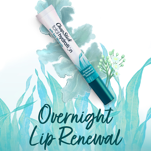 ChapStick® Total Hydration Sea Minerals Overnight Lip Treatment in white 0.21-ounce tube.