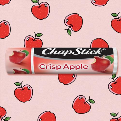You won't be able to resist ChapStick® Crisp Apple lip balm.