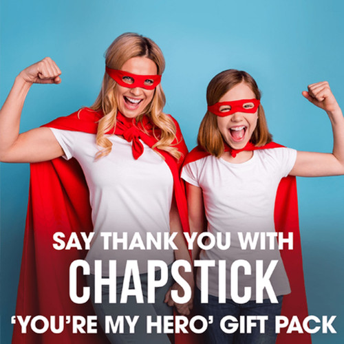 ChapStick® You're My Hero Collection is perfect as a thank you gift.