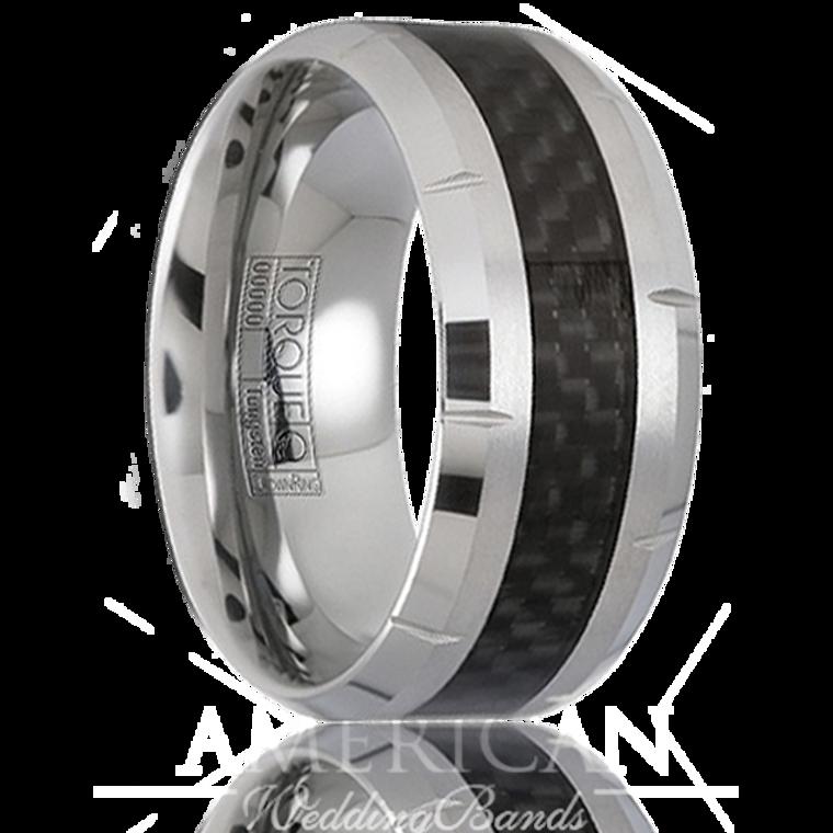 TORQUE Tungsten Carbide & Carbon Fiber Comfort Fit 10mm Band - TU-0017
