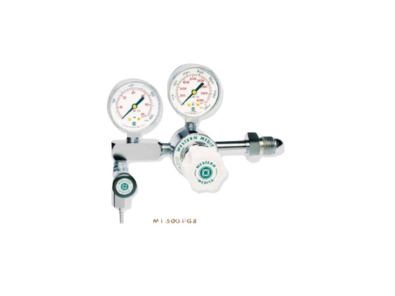 Western Medical Oxygen Regulator CGA-540 or CGA-870