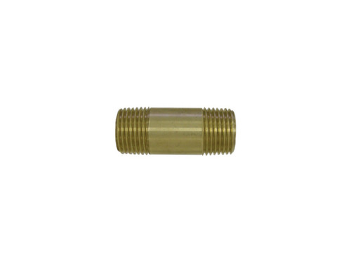 Brass Pipe Nipple, 1/2""