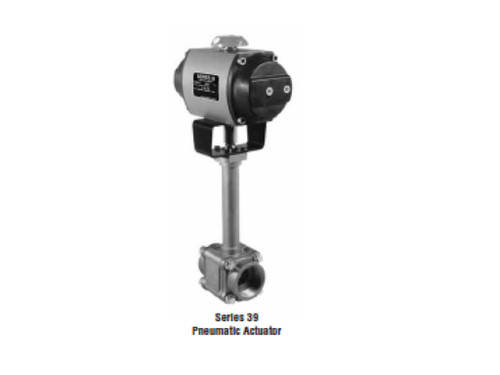 Pneumatic air actuated Worcester ball valve C44 series