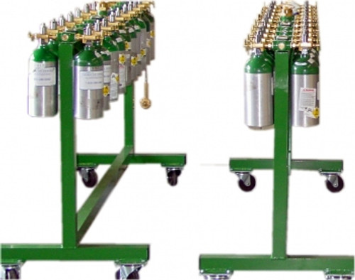 Medical cylinder fill cart, 20 cylinder capacity
