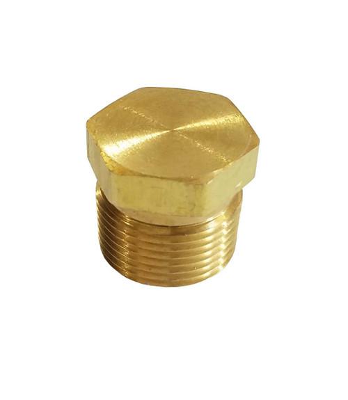 """Plug, Brass, 3000 psi, 1/2"""" MPT"""