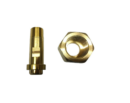 "Flare Nut and Tailpiece, 1""-11 female thread X 1/2"" MPT"
