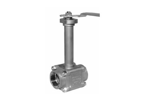Worcester Extended stem ball valve