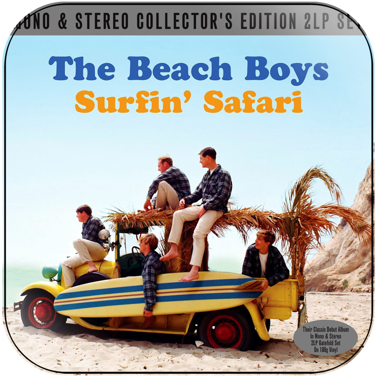 The Beach Boys Surfin Usa Album Cover Sticker Album Cover Sticker