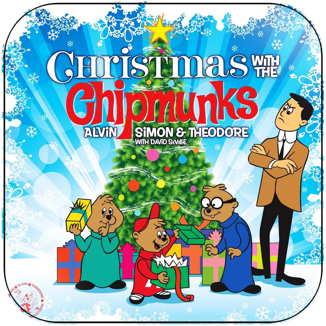 Chipmunks Christmas.The Chipmunks Christmas With The Chipmunks 1 Album Cover Sticker Album Cover Sticker