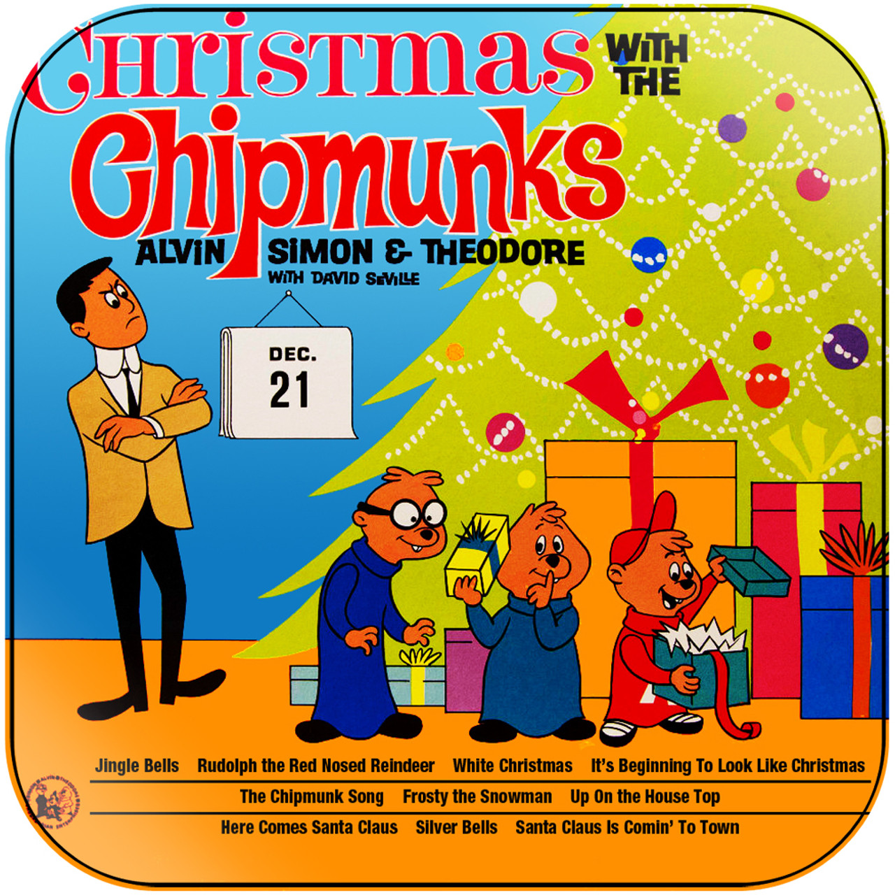 Alvin And The Chipmunks Christmas.The Chipmunks Christmas With The Chipmunks 2 Album Cover Sticker Album Cover Sticker