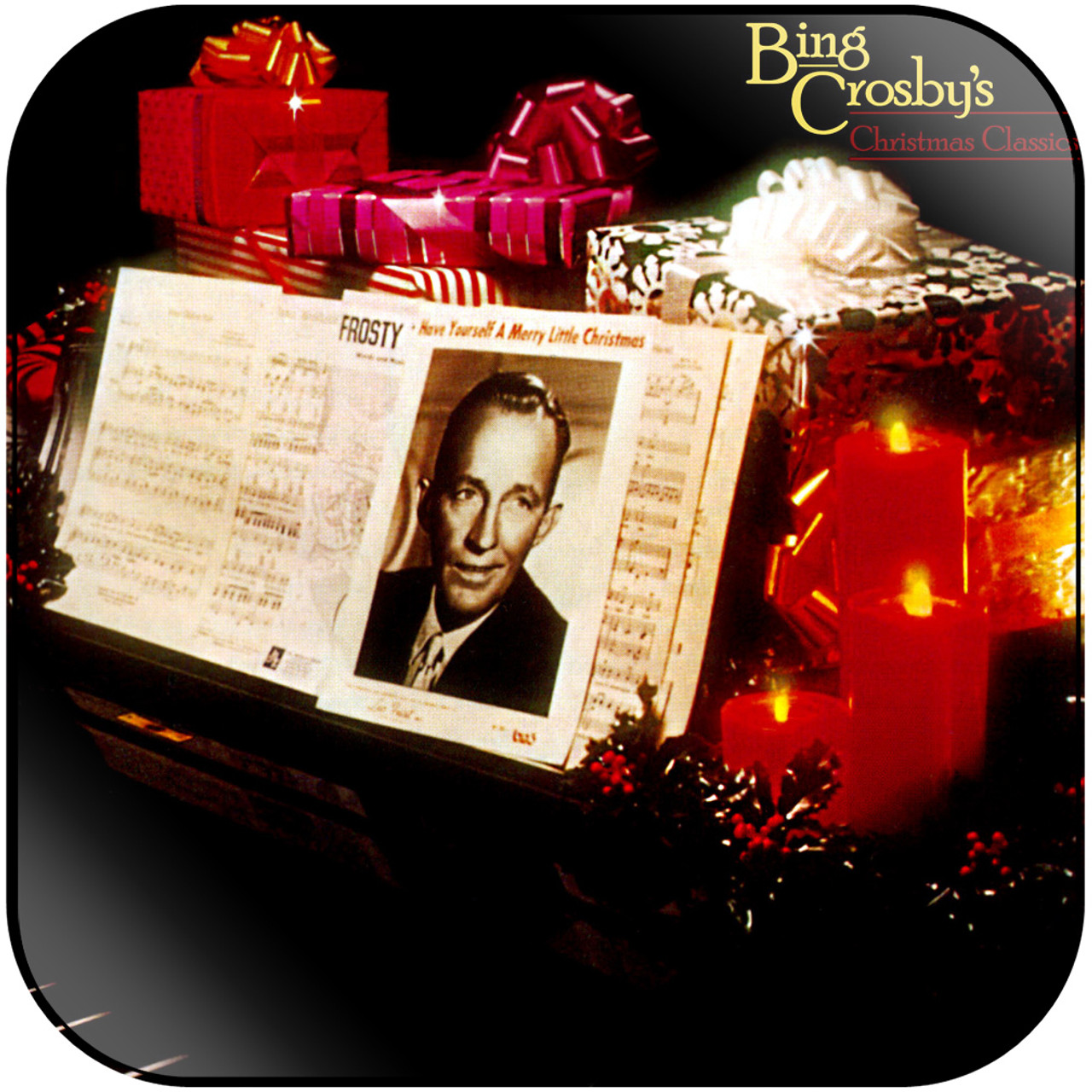 Bing Crosby Christmas Album.Bing Crosby Christmas Classics Album Cover Sticker Album Cover Sticker