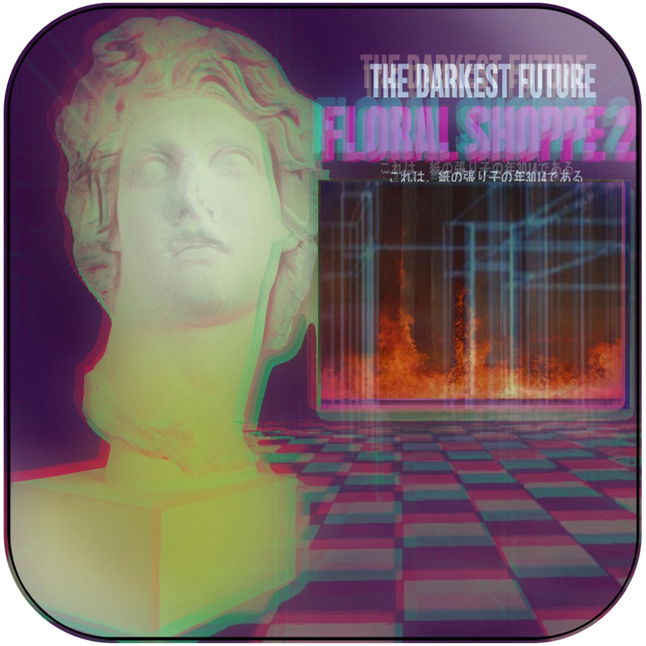 The Darkest Future Floral Shoppe 2 2 Album Cover Sticker