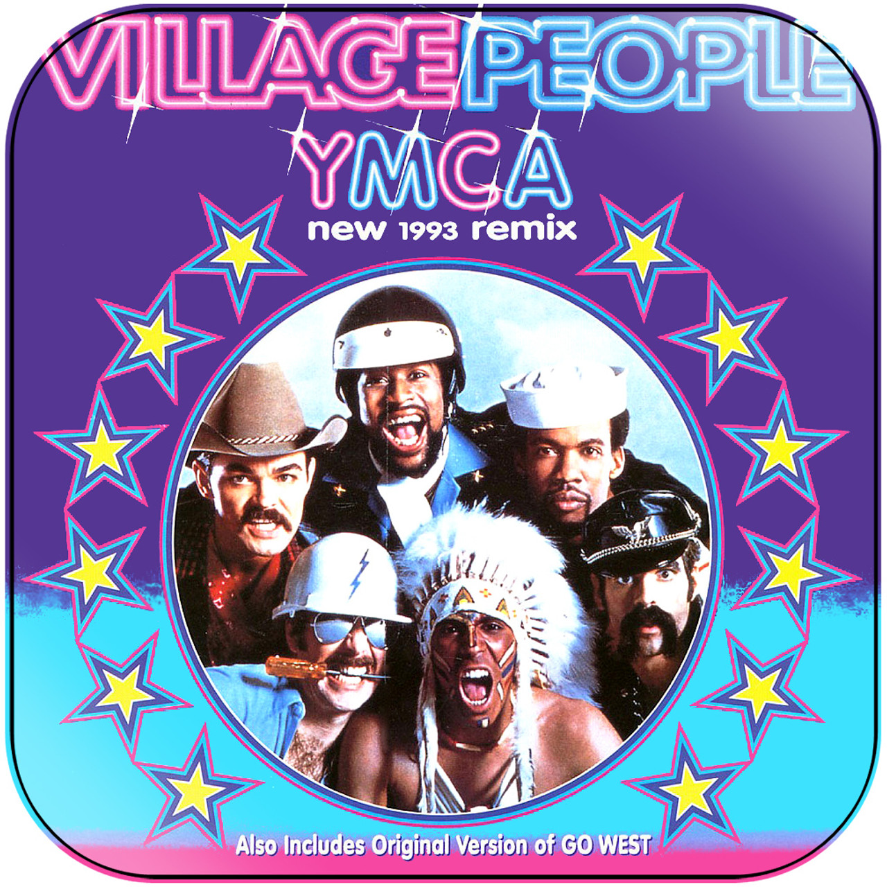 Village people ymca album cover sticker