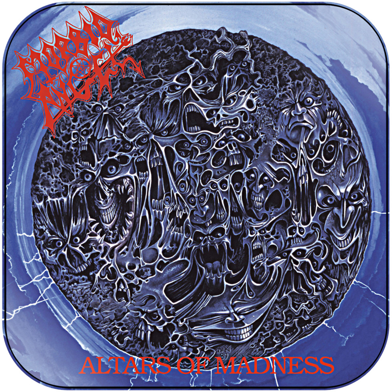 """Morbid Angel musique noire Autocollant Mural Décoration Autocollant Vinyle 5/""""x4.5/"""""""