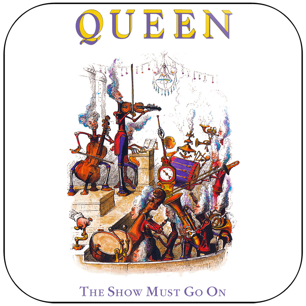 Queen - The Show Must Go On Album Cover Sticker Album Cover Sticker