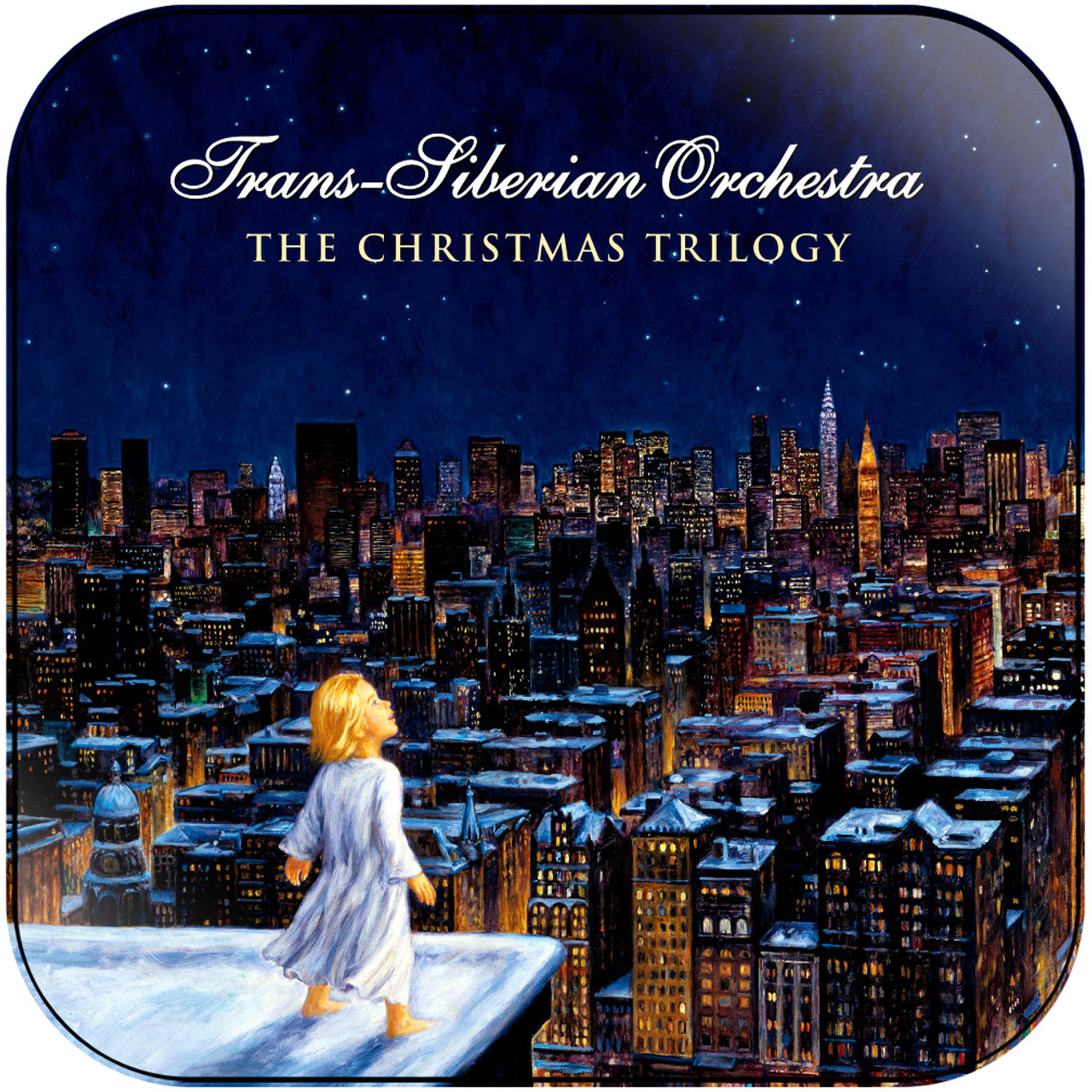 Trans Siberian Christmas.Trans Siberian Orchestra The Christmas Trilogy Album Cover Sticker