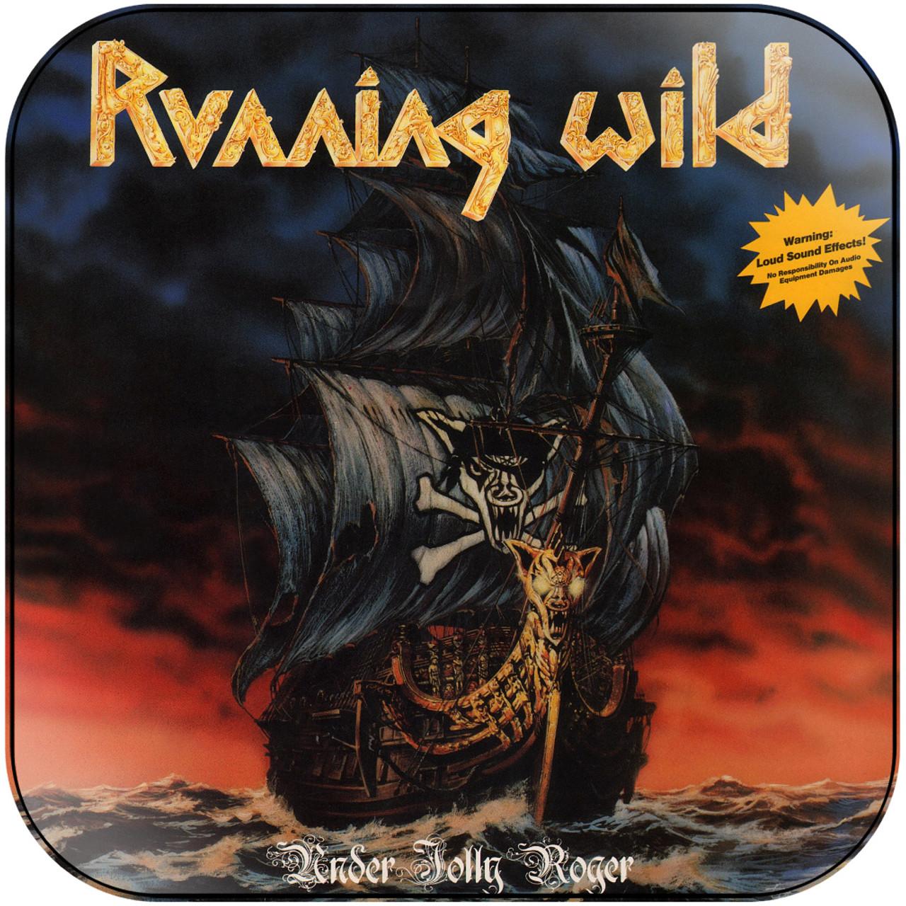 Black T-Shirt NEW /& OFFICIAL! Running Wild /'Under Jolly Roger Album/'