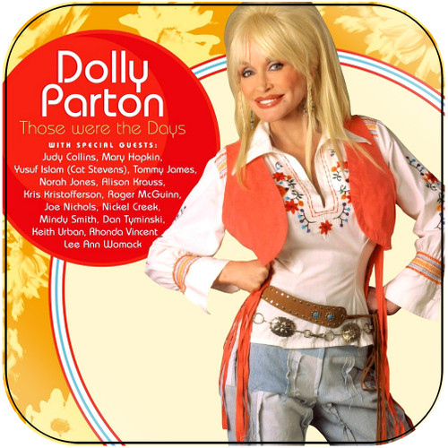 Dolly Parton Those Were The Days Album Cover Sticker Album Cover Sticker