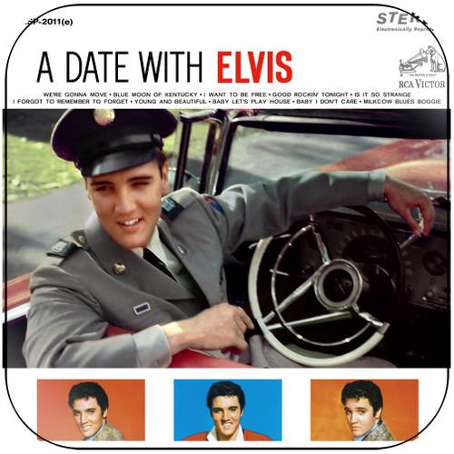 Elvis Presley A Date With Elvis Album Cover Sticker Album Cover Sticker