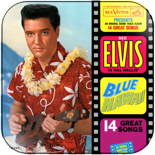 Elvis Presley Blue Hawaii Album Cover Sticker Album Cover Sticker