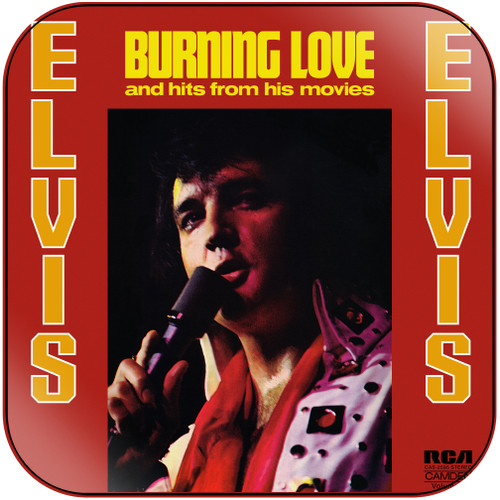 Elvis Presley Burning Love And Hits From His Movies Album Cover Sticker Album Cover Sticker