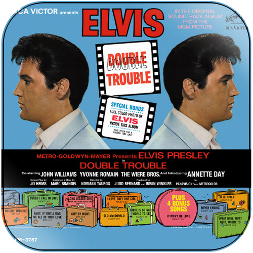 Elvis Presley Double Trouble Album Cover Sticker Album Cover Sticker