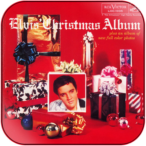 Elvis Presley Elvis Christmas Album Album Cover Sticker Album Cover Sticker