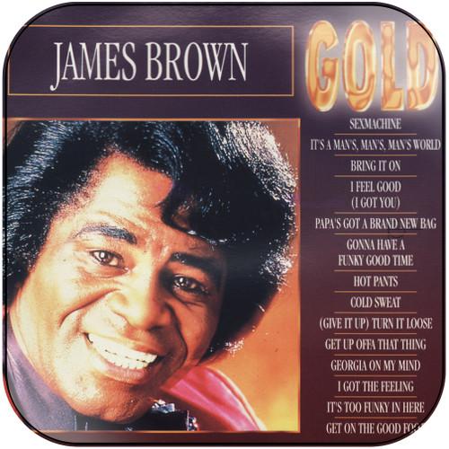 James Brown Greatest Hits Album Cover Sticker Album Cover Sticker