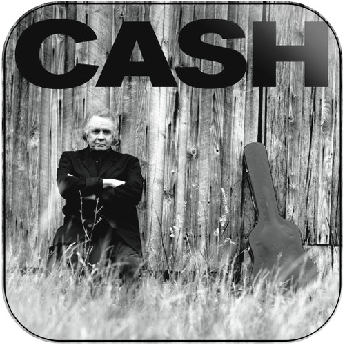 Johnny Cash At Folsom Prison 3 x 3 Album Cover Sticker
