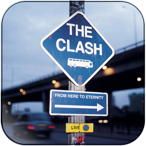 The Clash From Here To Eternity Live Album Cover Sticker Album Cover Sticker