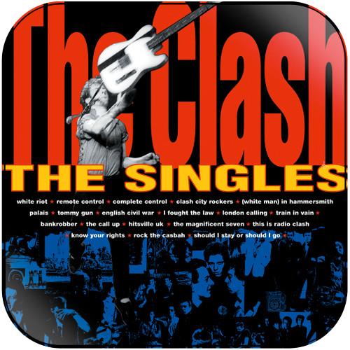 The Clash The Singles Album Cover Sticker Album Cover Sticker